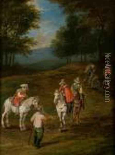 Ii Paysage Aux Cavaliers Oil Painting - Jan Brueghel the Younger