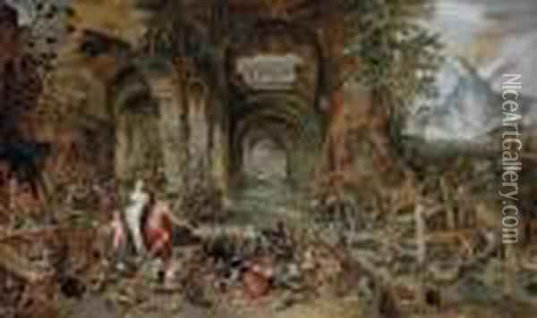 The Forge Of Vulcan Oil Painting - Jan Brueghel the Younger