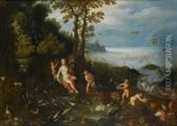 An Allegory Of Water Oil Painting - Jan Brueghel the Younger
