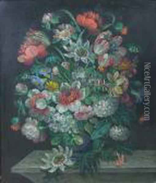A Floral Still Life Oil Painting - Jan Brueghel the Younger