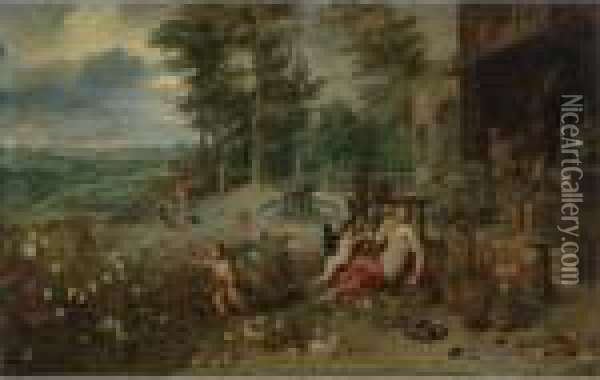 Allegory Of The Sense Of Smell Oil Painting - Jan Brueghel the Younger