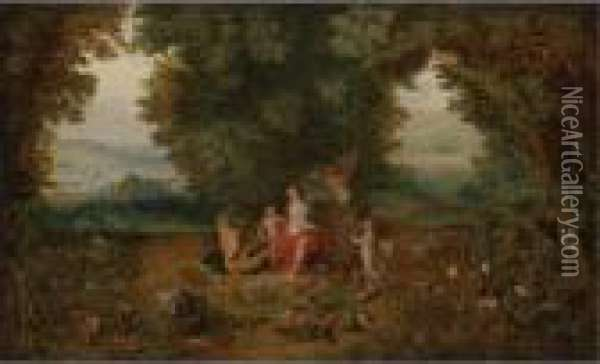Allegory Of Earth Oil Painting - Jan Brueghel the Younger