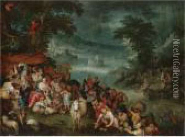 The Flood With Noah's Ark In The Background Oil Painting - Jan Brueghel the Younger