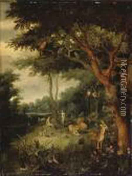 Le Paradis Terrestre Oil Painting - Jan Brueghel the Younger