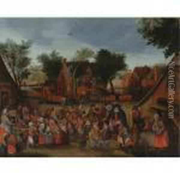 Feast Of The Children Oil Painting - Jan Brueghel the Younger