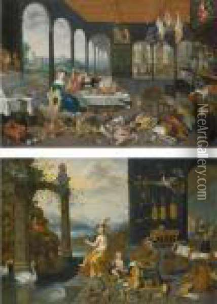 An Allegory Of The Sense Of Hearing Oil Painting - Jan Brueghel the Younger