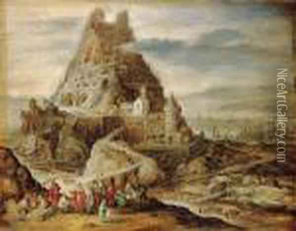 The Tower Of Babel Oil Painting - Jan Brueghel the Younger
