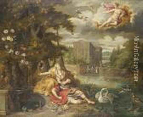 An Allegory Of Love Oil Painting - Jan Brueghel the Younger