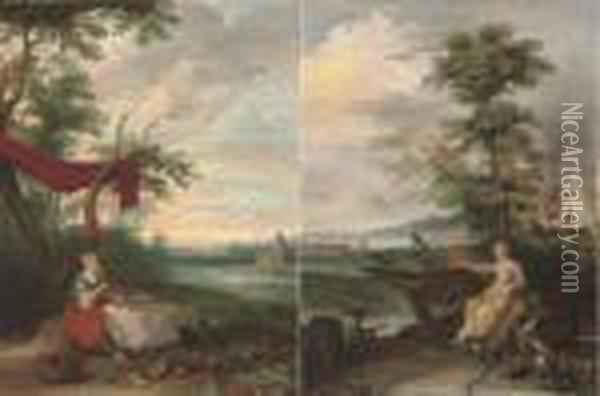 An Allegory Of Peace; And An Allegory Of War Oil Painting - Jan Brueghel the Younger