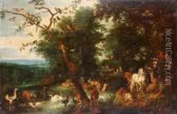 The Garden Of Eden Oil Painting - Jan Brueghel the Younger