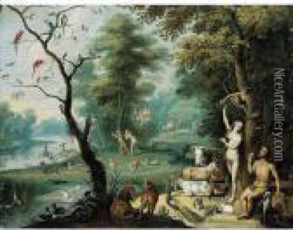 The Fall Of Man Oil Painting - Jan Brueghel the Younger