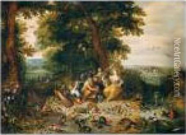 Allegory Of The Four Elements Oil Painting - Jan Brueghel the Younger