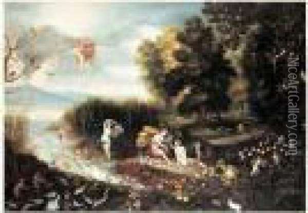 Allegorie Des Quatre Elements Oil Painting - Jan Brueghel the Younger