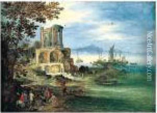 Bears Signature Lower Left: Oil Painting - Jan Brueghel the Younger