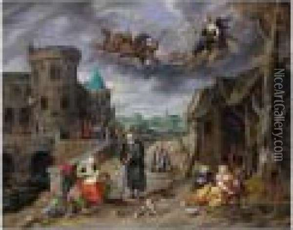 Signed Lower Left: Oil Painting - Jan Brueghel the Younger