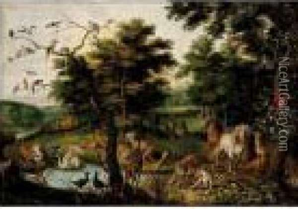 The Earthly Paradise Oil Painting - Jan Brueghel the Younger