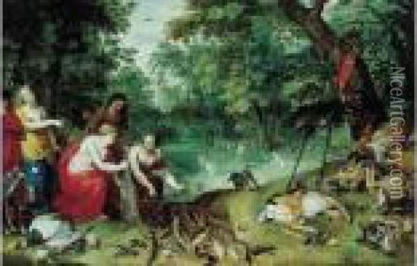 Les Nymphes De Diane Apres La Chasse Oil Painting - Jan Brueghel the Younger