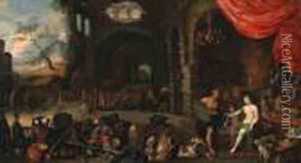Venus At The Forge Of Vulcan Oil Painting - Jan Brueghel the Younger