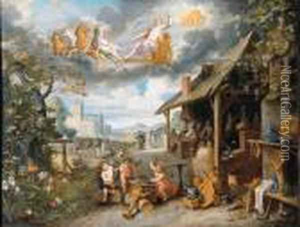 Children Of The Planet Sun Oil Painting - Jan Brueghel the Younger