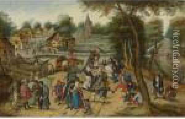 Return From The Kermesse Oil Painting - Pieter The Younger Brueghel