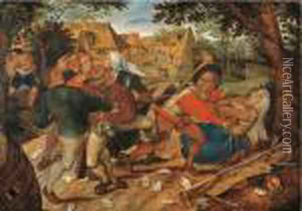 The Peasants' Brawl Oil Painting - Pieter The Younger Brueghel