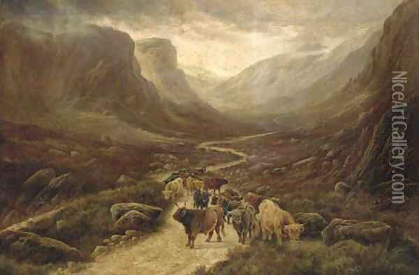 The pass at Glencoe Oil Painting - William Perring Hollyer