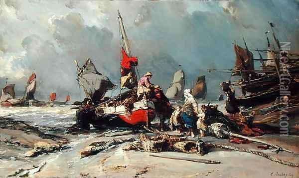 After the Storm Oil Painting - Eugene Isabey