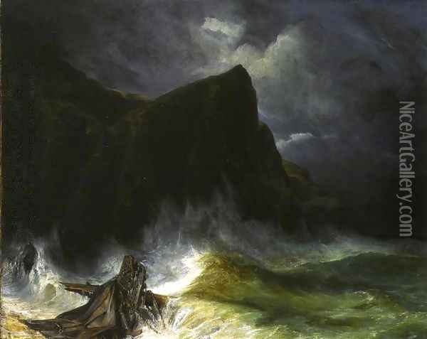 The Storm Oil Painting - Eugene Isabey