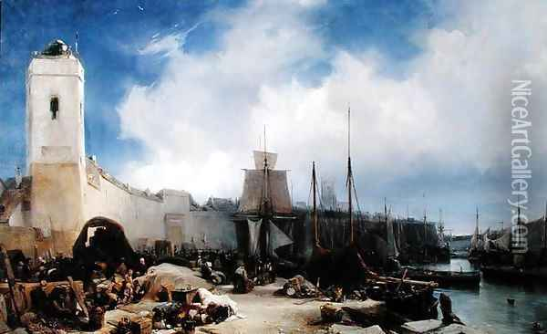 The Port of Dunkirk Oil Painting - Eugene Isabey