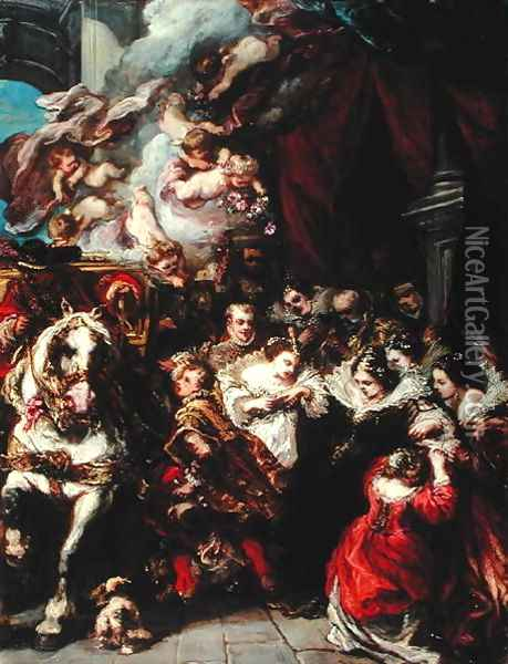 The Departure of Elisabeth of France 1602-44 for Spain Oil Painting - Eugene Isabey