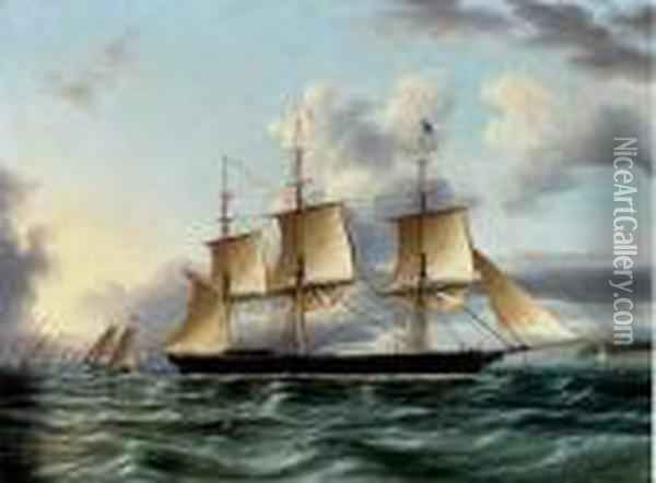 The American Clipper Oil Painting - James E. Buttersworth