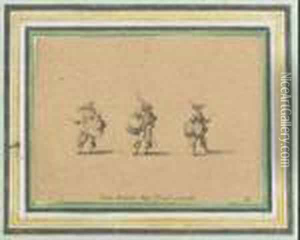 Exercices Militaires Oil Painting - Jacques Callot