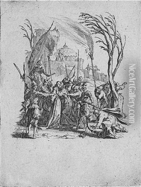 The Small Passion (lieure 537-548) Oil Painting - Jacques Callot