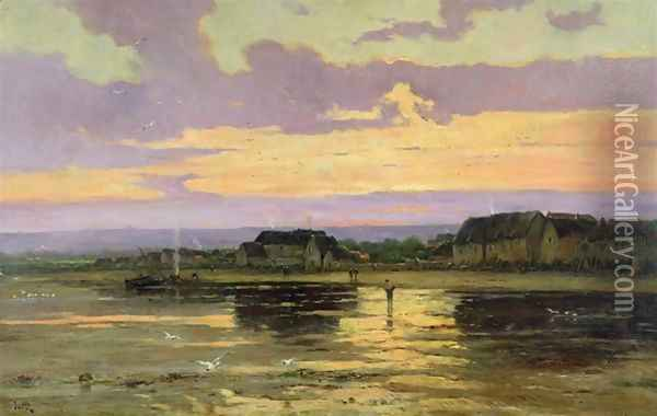 Solitude in the Evening Morsalines Oil Painting - Marie Joseph Leon Clavel Iwill