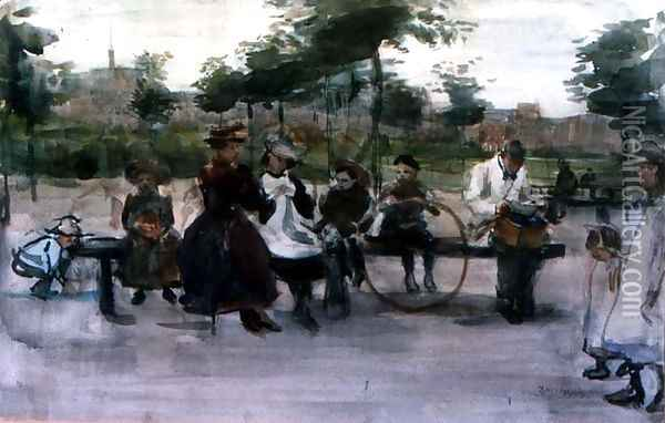 The Park Bench Amsterdam Oil Painting - Isaac Israels