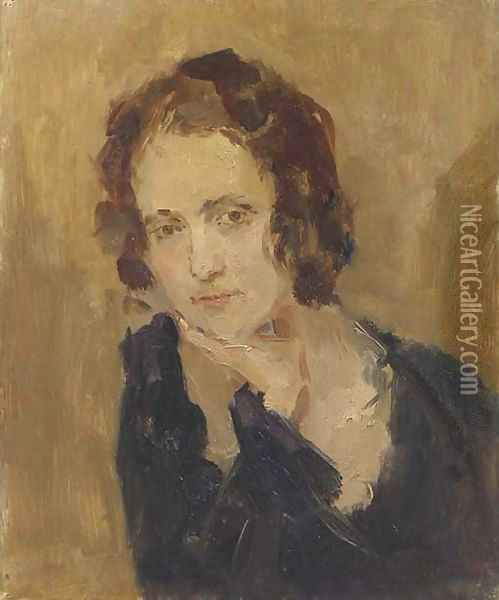 Portrait of Laura Asselin Oil Painting - Isaac Israels