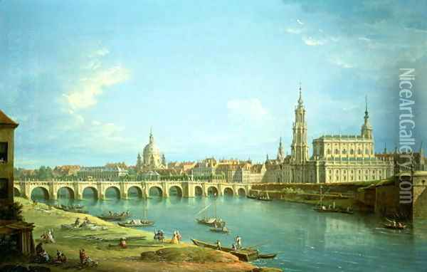 A View of Dresden Oil Painting - Antonio Joli