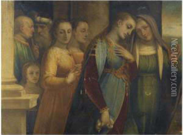 The Magdalene Renouncing The Vanities Of The World Oil Painting - Luca Cambiaso