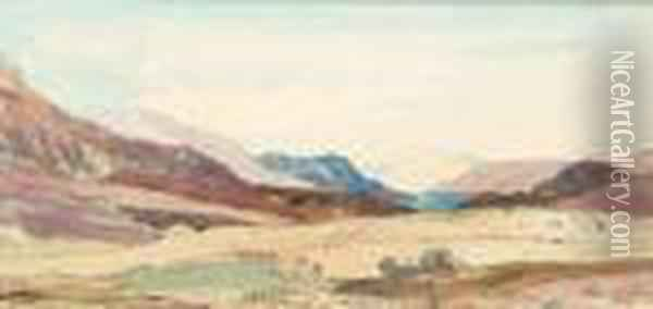 Hill Ofspean Oil Painting - David Young Cameron