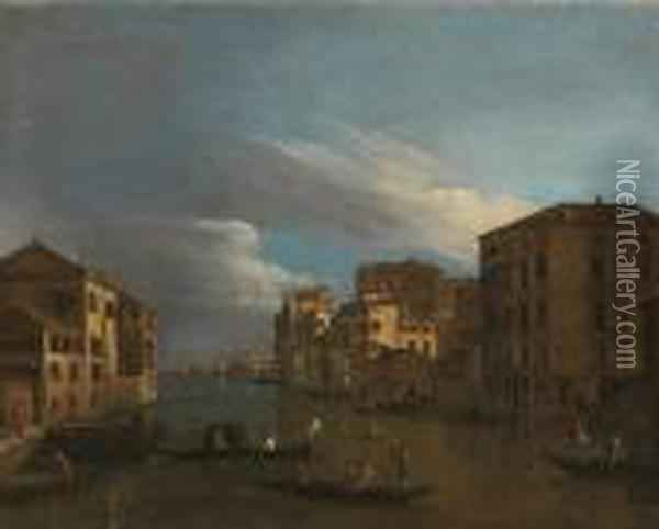 Vue Du Grand Canal Oil Painting - (Giovanni Antonio Canal) Canaletto