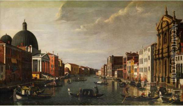 Stadtansicht Venedigs Oil Painting - (Giovanni Antonio Canal) Canaletto
