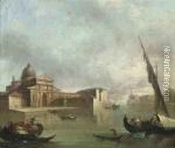 The Bacino Di San Marco, Venice,  Looking East, With The Zecca, Thelibreria, The Piazzetta Of Saint Mark  And The Ducal Palace Oil Painting - (Giovanni Antonio Canal) Canaletto