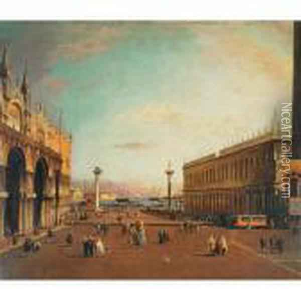 The Grand Canal From Piazza San Marco Oil Painting - (Giovanni Antonio Canal) Canaletto