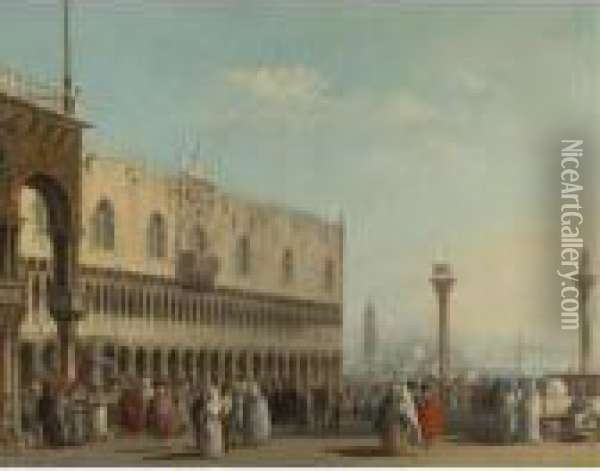 Piazza San Marco Oil Painting - (Giovanni Antonio Canal) Canaletto