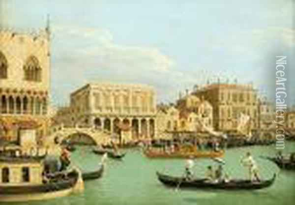 Grand Canal Oil Painting - (Giovanni Antonio Canal) Canaletto