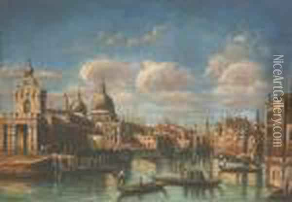 The Entrance To The Grand Canal, Venice Oil Painting - (Giovanni Antonio Canal) Canaletto