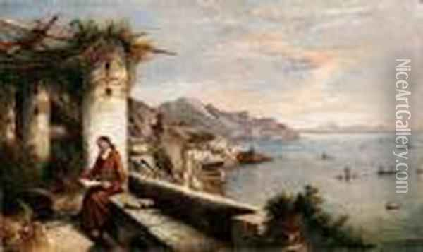 Amalfi Oil Painting - Consalvo Carelli