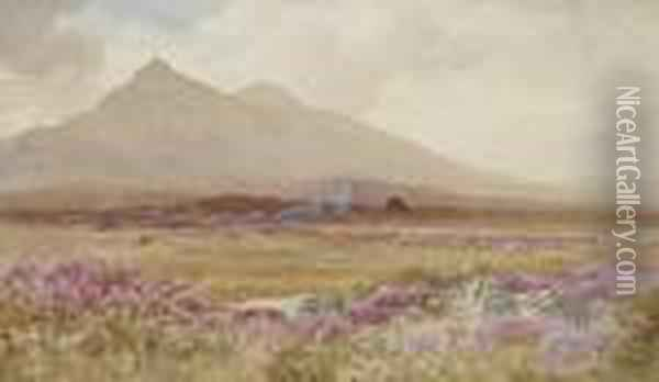 Mountains Of Mourne Oil Painting - Joseph Carey Carey
