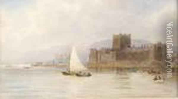 Carrickfergus Castle Oil Painting - Joseph Carey Carey