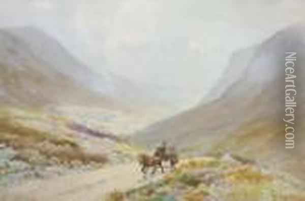 Glengesh, Donegal Oil Painting - Joseph Carey Carey